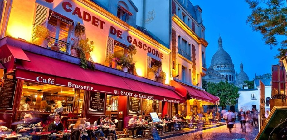 Travel exploring paris montmartre restaurant au cadet de gascogne original?1450271909